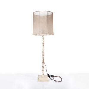 Lampada con paralume in garza di lino